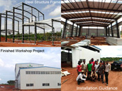 Nigeria Steel Structure Prefabricated Workshop