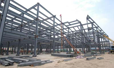 steel structure frame with multi storey