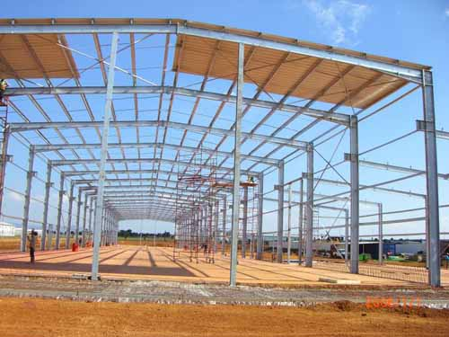light steel structure warehouse frame